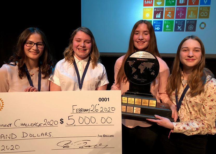 Team Wins $5000 from Kelowna Rotary