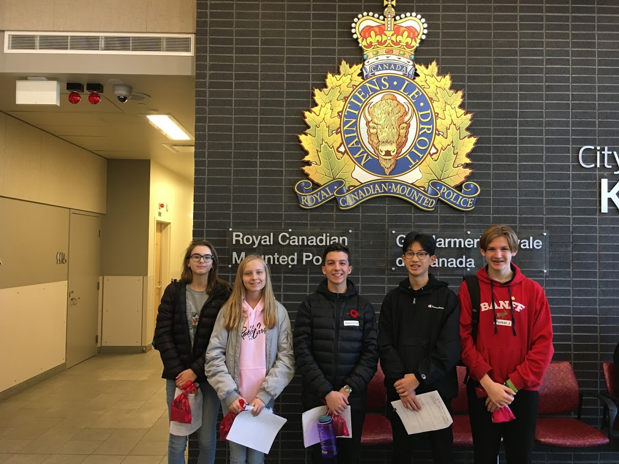Grade 9 Students at the RCMP Detachment for 'Take Our Kids to Work Day'