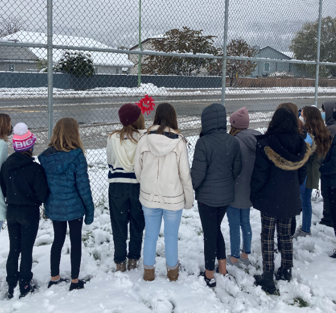 Mrs. Koch's Class Taking A Moment to Remember