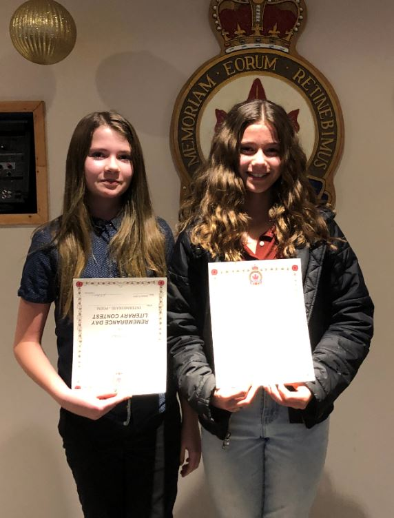 Congratulations to Rowan and Pippi for receiving awards for placing in the top 3 for the Legion writing contest.