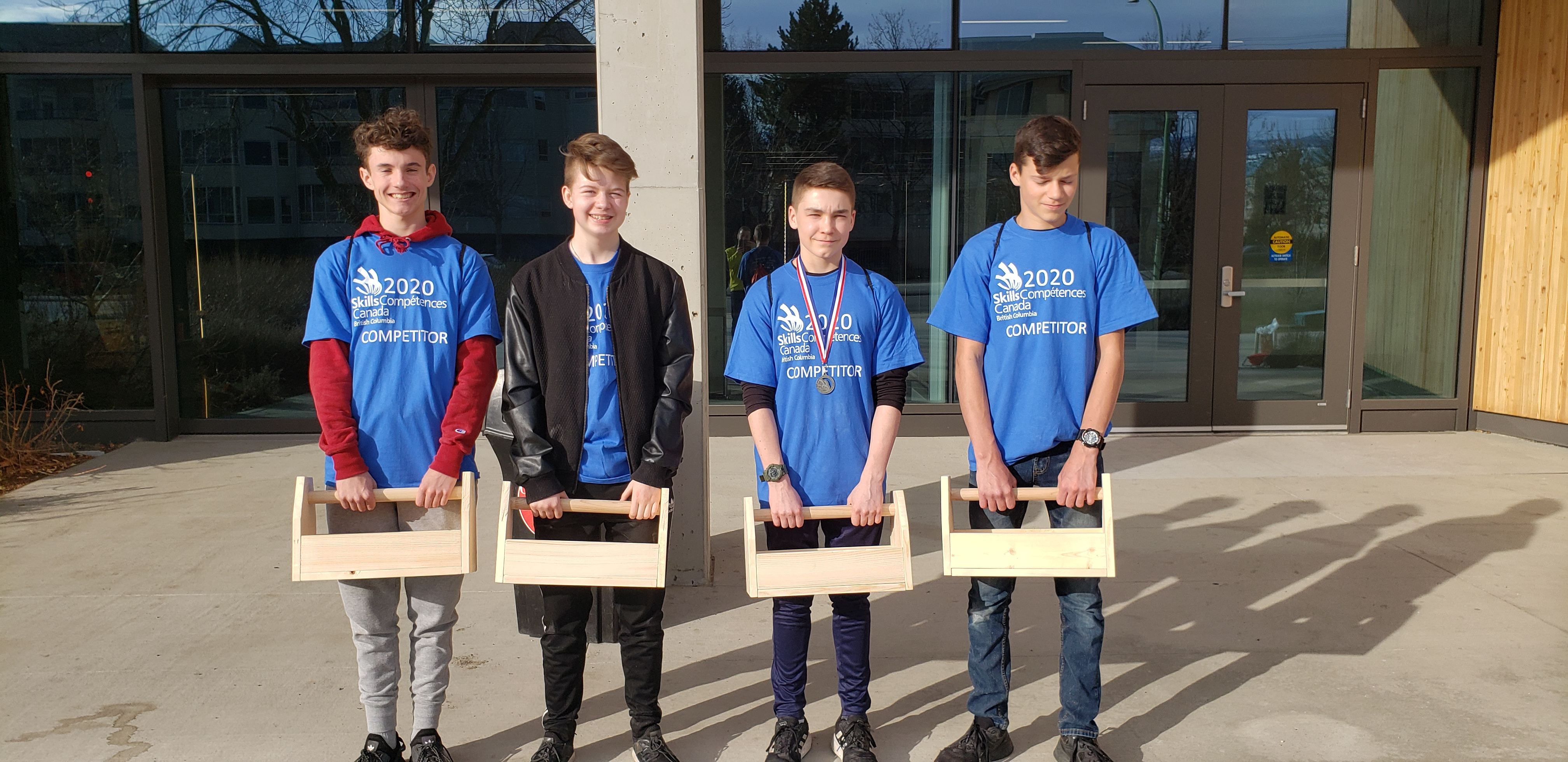 DRK Grade 9 Students at Skills BC Jr Carpentry Challenge