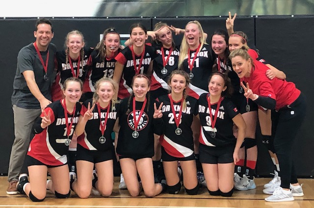 Dr. Knox Grade 9 Girls' Volleyball Team wins silver at BC Invitational Volleyball Championships!