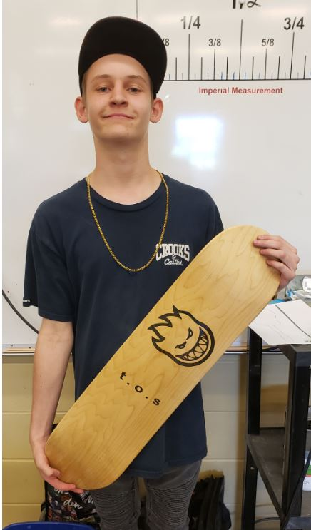 Taylor's Skateboard Made in Tech Ed